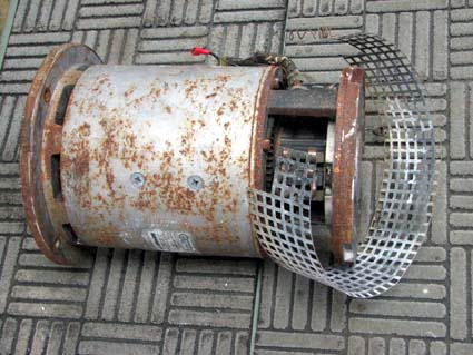 Before Thruster Motor Remanufactured